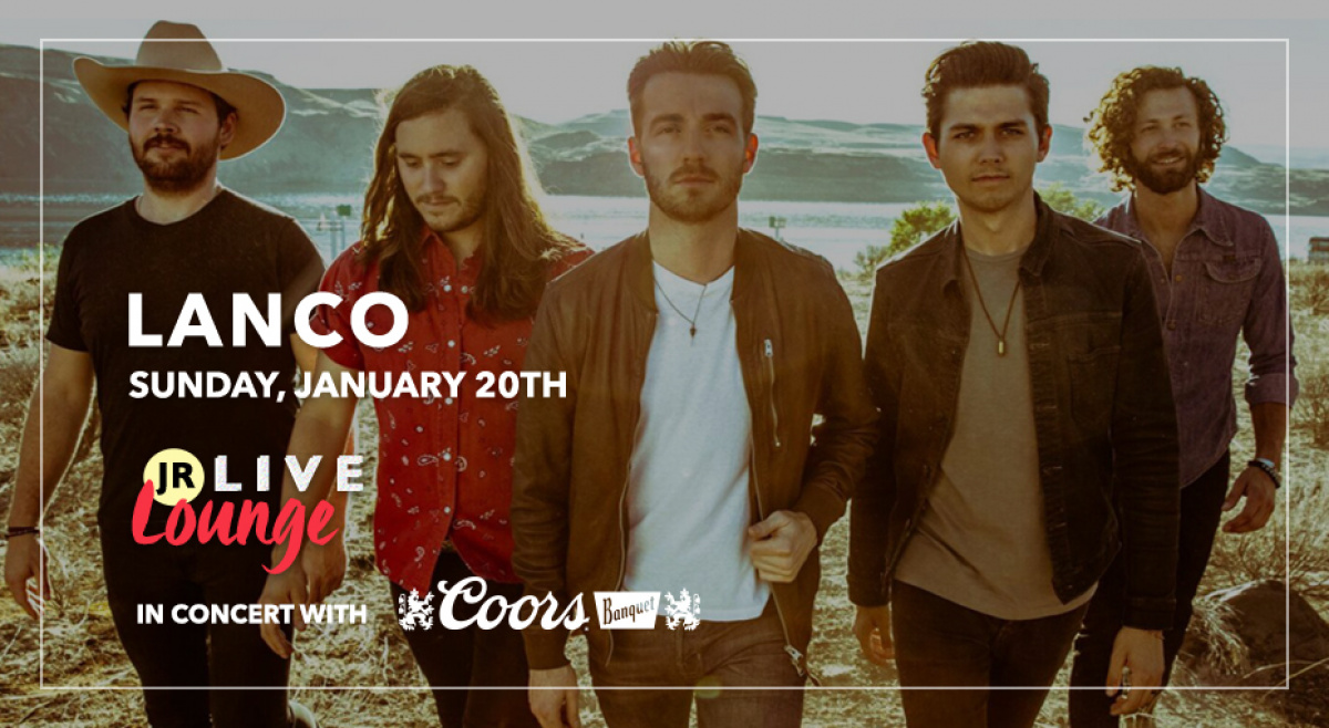Win Invites to see Lanco in the JR Live Lounge, in concert with Coors Banquet